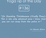 136-On Standing Tittibhasana (Firefly Pose)-This is the only advanced pose I know that you can run away from the police in