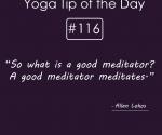 A good meditator meditates