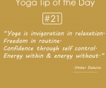 Yoga is invigoration in relaxation