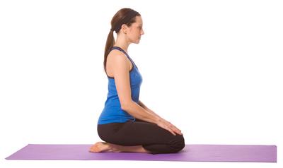 Seated Heart Opener (Vajrasana) Yoga Pose