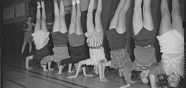 headstand in 1944