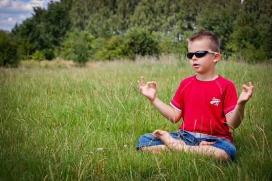 Child Doing Meditation