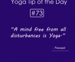 Do yoga practice stay away from disturbances