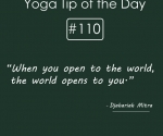 When you open to the world-the world open you