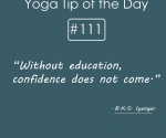 Without education, confidence does not come