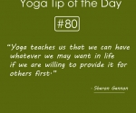 Yoga teaches us