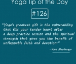 Yoga's greatest gift is the vulnerability that fills your tender heart after a deep practice session