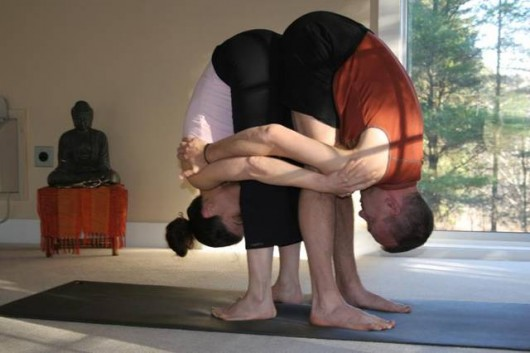 double standing forward bend