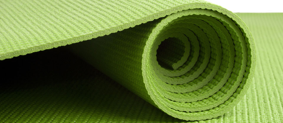 Green Yoga Mat Banner