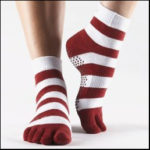 Full Toe Yoga Socks with Grip by ToeSox
