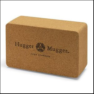 Yoga block in Cork material by hugger mugger