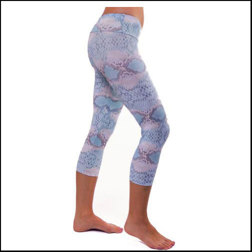 Onzie white cobra yoga leggings