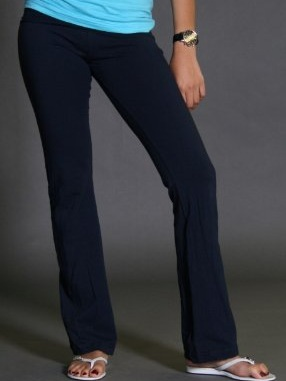 Womens stretch cotton yoga pants